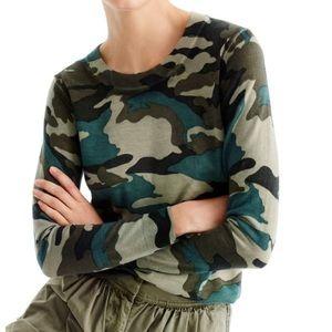 J.Crew Woman's Camo Tippi Merino Wool Sweater